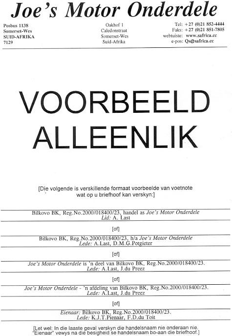 Die Gebruik Van N Bk Kits Naam Ha N Ander Naam